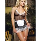 Female Fancy Dress Sexy Mesh Franch Maid Costume W9011