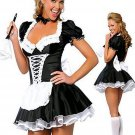 Classic French Maid Fancy Dress Halloween Costume Uniform French Maid Costume W2806
