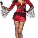 Flared Sleeves Fancy Dress Costume Classic Neck Biting Vampire Sexy Halloween Costume W20868