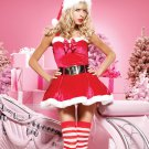 X-max Fur Fancy Dress Sexy Red Fashion Christmas Costume Outfit with Belt W244049