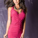 Rose Night Out Club wear Woman Fashion Sexy Summer Draped Mini Dress W850480