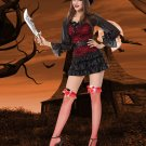 Halloween Cosplay Fancy Dress Classic Woman Gothic Black Mistress Pirate Wench Sexy Costume W418662