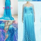 High Quality Blue Sequins Snow Princess Elsa Costume Fancy Dress W846131