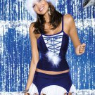 Santa Outfit Hot Sexy Unusual Royal blue Lace-up 3 Piece Furry Christmas Costume W204029