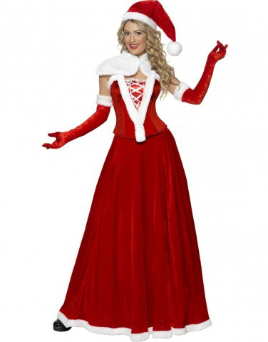 Good Quality Thick Ankle-length Long Christmas Costumes Outlets with Hat W4013
