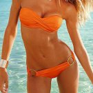 Hot Sale Free Shipping Swimsuit Orange Bra Set Bikini W399432A