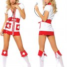 Free Shipping Nurse Fancy Dress Halloween Costume Sexy Flirty Nurse Costume W248155