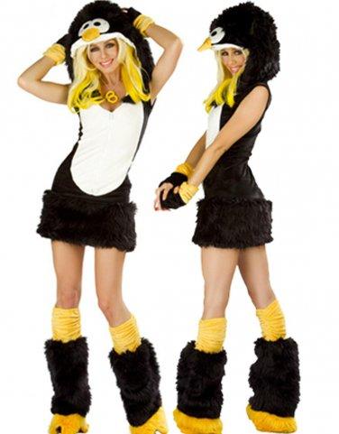 Hot Sale Fur Sexy Dark Penguin Cosplay Winter Costume W349008