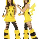 Popular Cartoon Animal Pikachu Cosplay Mascot Costume With Lightning Tail W339049