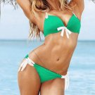 Green Color Strap Ties S Size Hot Sexy Bikini W399438C