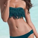 New Hot Sexy Dark Green Color XL Size Swimwear With Tassel Bras Design W9399D