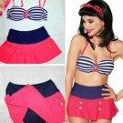 S/M/L Size Hot Fashion High Waist Sexy Bikini With Spaghetti Straps W399485A