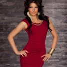 Wine Red Color Off The Shoulder Fashion Sexy Scoop Neckline One Size Dress W123415B