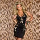 M-XL Size Off The Shoulder Fashion New Style Black Sexy Dress With V-neck Back W203188