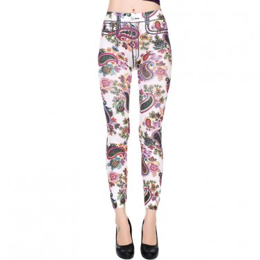 Floral Designs  Women Fashion Slim Leggings One Size  WL48206C