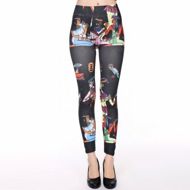 Women Fashion Woman-like PatternSlim Leggings  One Size   WL48206E