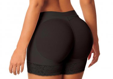 S-XXL Size Black Color Hot Sale Butt Lifter With Floral Lace Trim W35063B