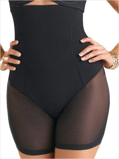 New Mesh Bottom S-XXL Size Hot Sale High Waist Black Lingerie W35069