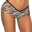 Zebra Pattern Print Slash Fashion Hot Sexy Swimming Trunks W3538A