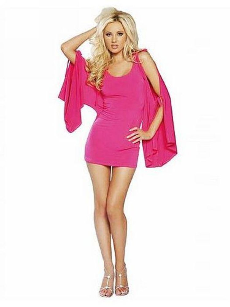 Rose Sexy Scoop Neckline Mini Club Dress W3214C