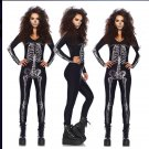 Scary Skull Adult Women Halloween Catsuit Costume W51808372