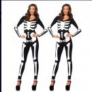 Long Sleeve Sexy Glow Skeleton Costume W51808373