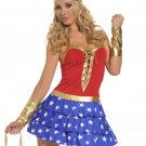 Wonder Woman Uniform Costumes Super Heroine Fancy Dress W329110