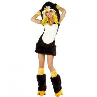 Hot Sale Faux Fur Sexy Dark Carnival Carton Cosplay Winter Penguin Costume W349008