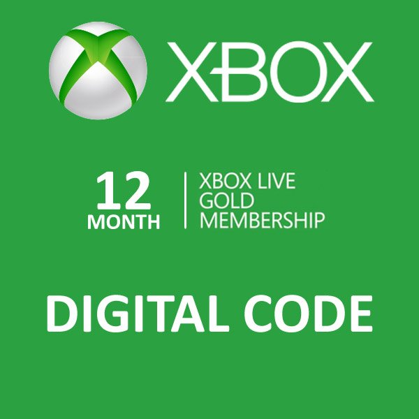 12 Month Gold Membership Xbox Live CD-Key Global