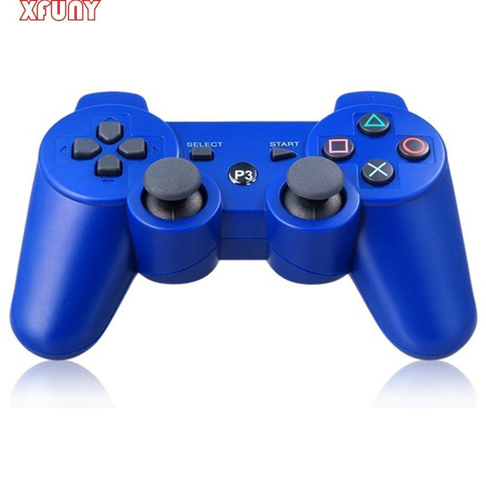 playstation 3 dualshock 3 wireless controller blue. Black Bedroom Furniture Sets. Home Design Ideas