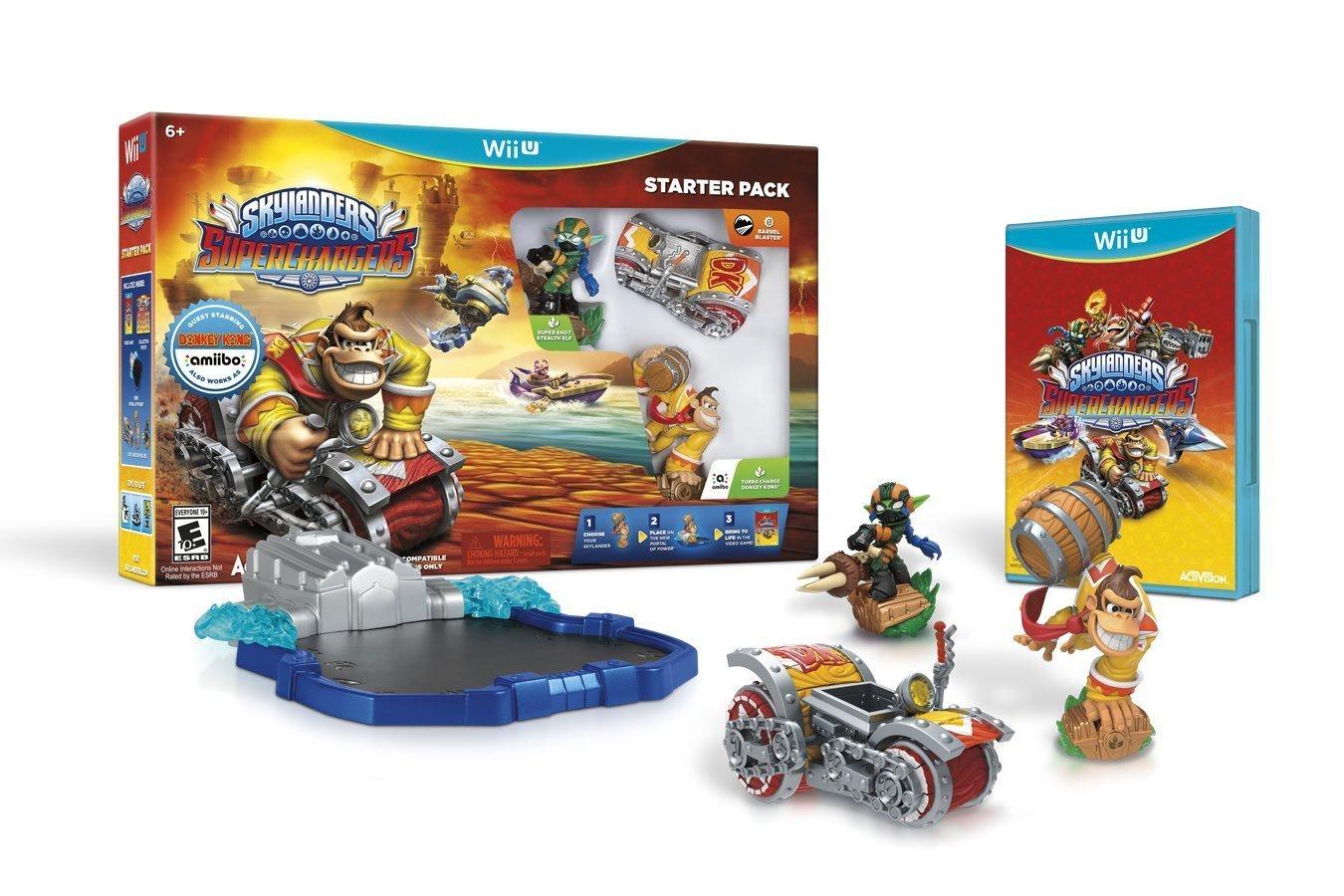 Skylanders SuperChargers Starter Pack Wii U Physical Game Disc US