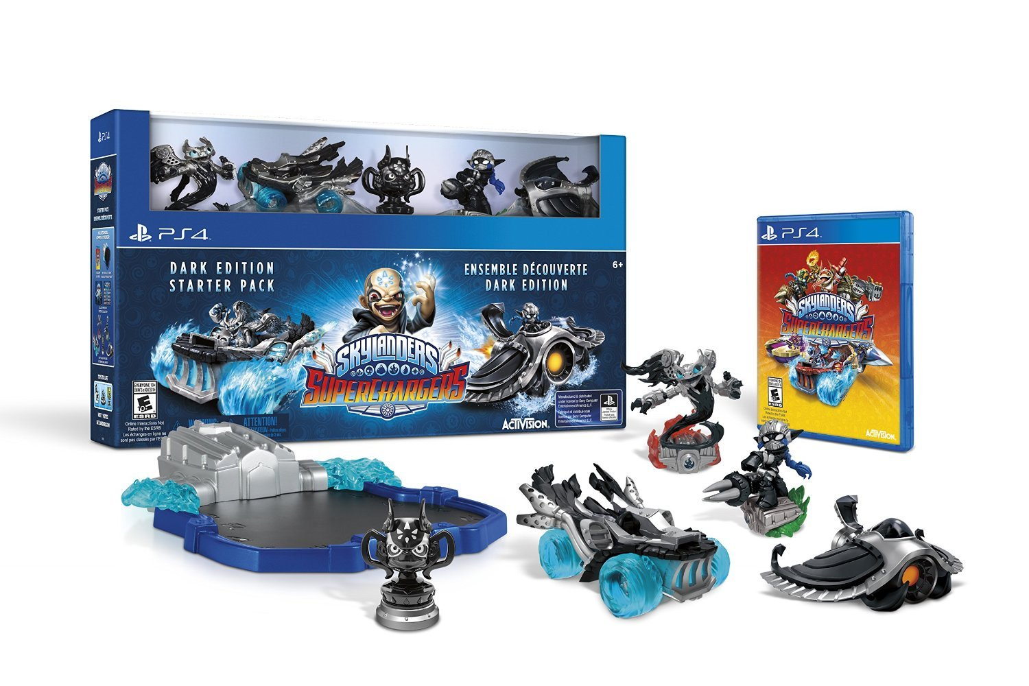 Skylanders SuperChargers Dark Edition Starter Pack PS4 Physical Game Disc US