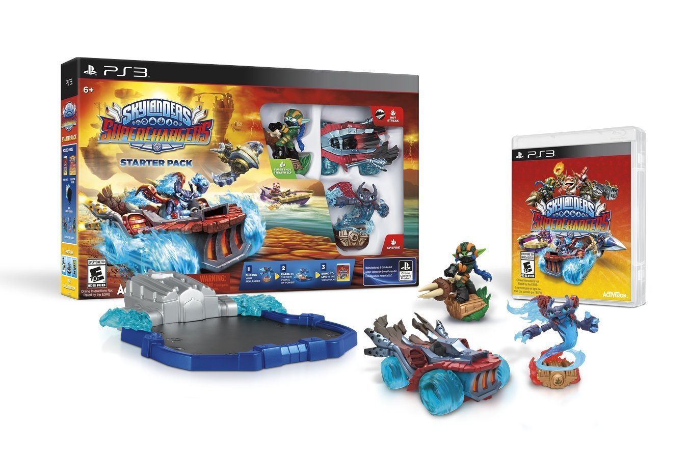 Skylanders SuperChargers Starter Pack PS3 Physical Game Disc US