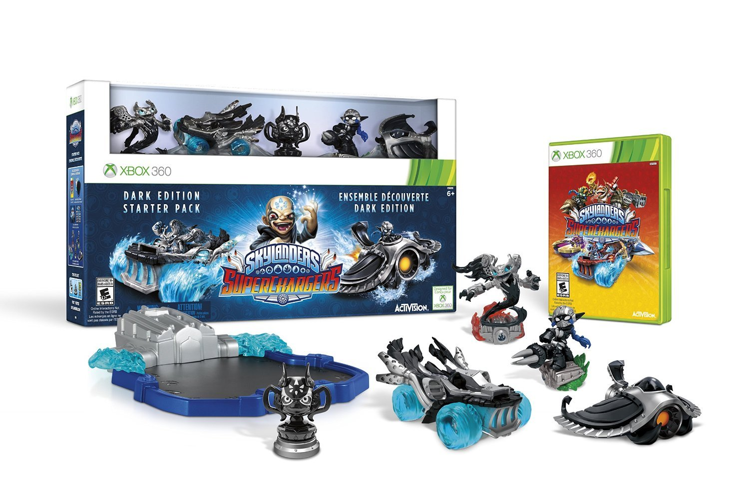 Skylanders SuperChargers Dark Edition Starter Pack Xbox 360 Physical Game Disc US