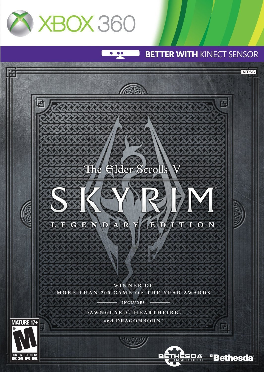 The Elder Scrolls V: Skyrim - Legendary Edition Xbox 360 Physical Game Disc US