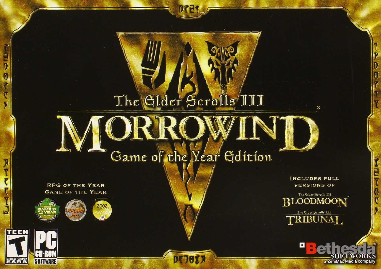 The Elder Scrolls III: Morrowind Game of the Year Edition PC Physical Game Disc US