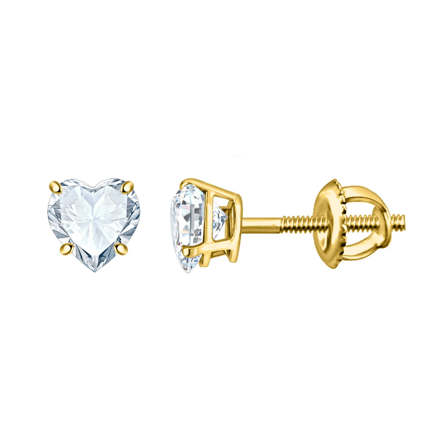 Silver Dew White Diamond Earring In 925 silver For Ladies & Girls