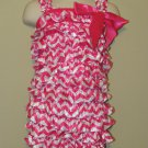 Landolynn's, LLC Pink and white Girls Romper size Large 1-2 years-NEW with headband