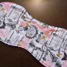 Paris Girl Burp Rag Cloth-Baby Shower Gift-Cotton/Terry