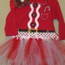 Landolynn's, LLC. 3-6 month Girls Christmas Outfit Santa onesie, headband, tutu handmade CUTE!!!