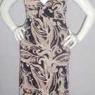 $99.95 New le Chateau black brown tan long dress, halter, maxi. Large