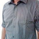 16.5- 32/33 Alfani men's dress shirt  I ron Free /Slim Fit DK- brown stripe - LARGE