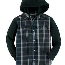 $69.50 ralph lauren boys  plaid hoodie but on down shirt