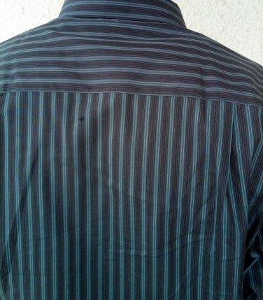 17- 32/33 Alfani men's dress shirt  I ron Free /Slim Fit DK- brown stripe - XL