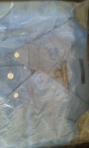 NWT Clubroom Mens dresshirt. 17.5/32/33 XL /blue SLIM FIT