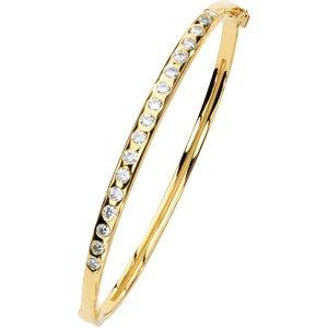 Round Moissanite Bangle Bracelet