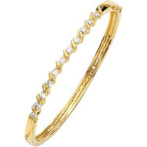 Swirl Moissanite Bangle Bracelet*