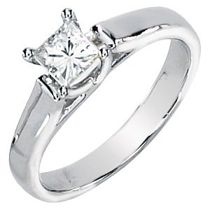 Moissanite Solitaire Engagement Ring 1.25 ct