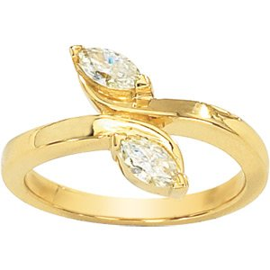 Moissanite 2-Stone Marquise Promise Ring