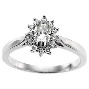 Starburst Moissanite and Diamond Ring